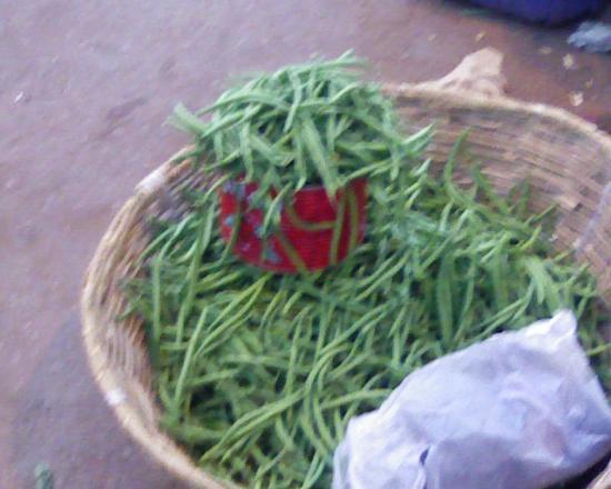 Bobo Dioulasso: Haricot vert Bioà 150fcfa (0.23Euro) la boîte; qui dit
