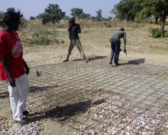 Construction d'un radier: ferraillage