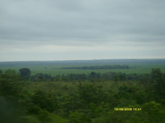 Banfora; Au loin on distingue les champs de Canne à sucre