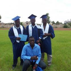 Ici je suis avec BLAGNA Issa et OUEDRAOGO Souleymane