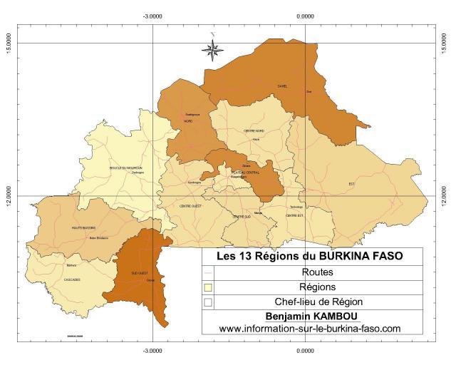 Les 13 Régions du Burkina Faso